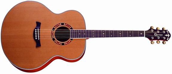 гитара с формой корпуса джамбо